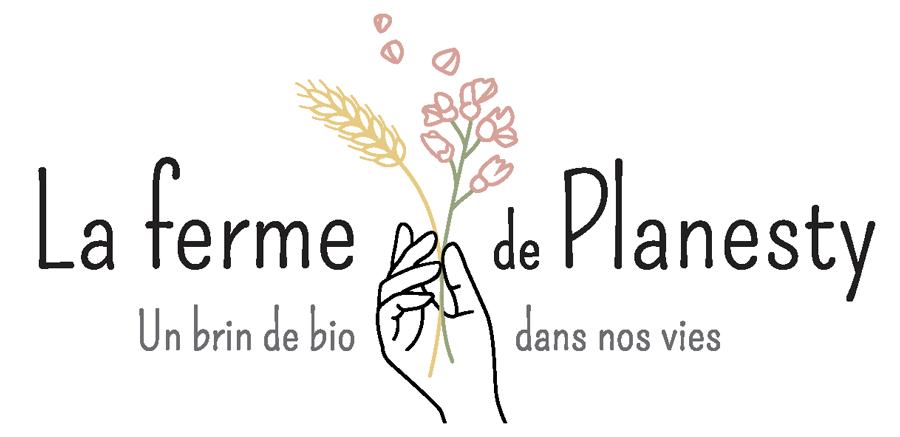 Logo de la ferme de planesty, un brin de bio dans nos vies