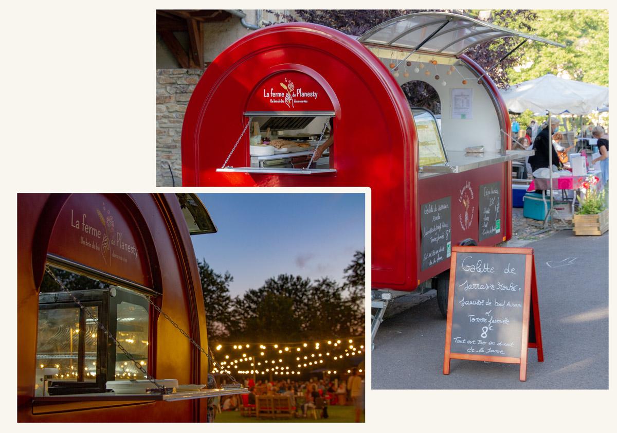 Food Truck de la ferme de Planesty, cuisine biologique